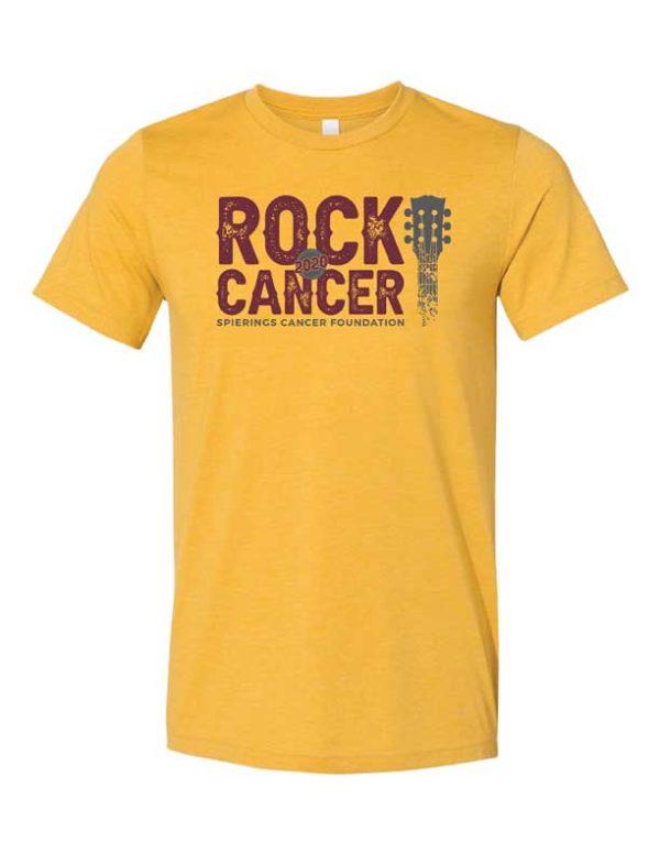 Rock Cancer T-Shirt Mustard | Spierings Cancer Foundation